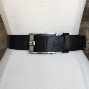 Vintage Belt S Black Leather Women's